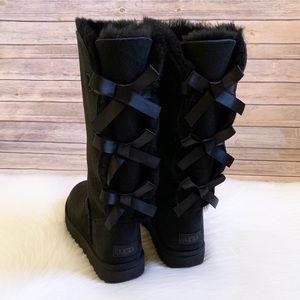 UGG Black Bailey Bow Tall II Boots